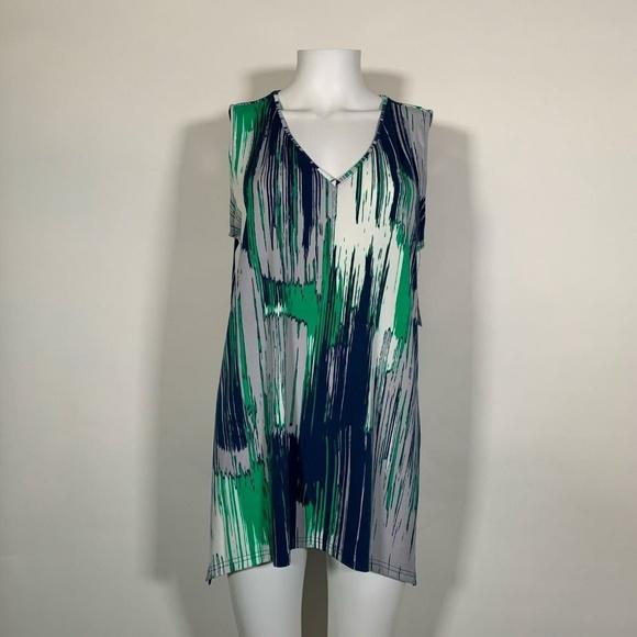 Alfani Top Blouse Tunic Sleeveless Multicolor Women Sz L NEW NWT